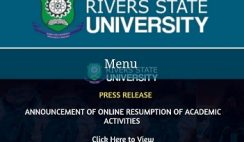 Rivers State University (RSU) Approves Online Resumption of Academic Activities