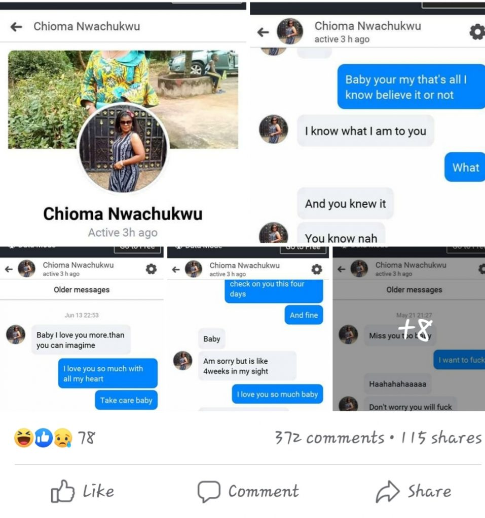 Pastors Facebook Account Hacked, All His Conversations with Married Women Screenshot