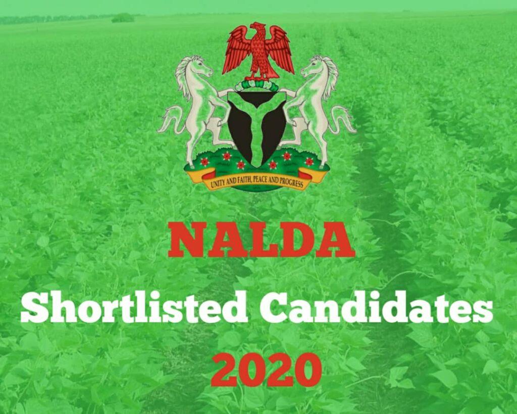 NALDA List of Shortlisted Candidates 2020 - How to Check Your Name on NALDA Portal