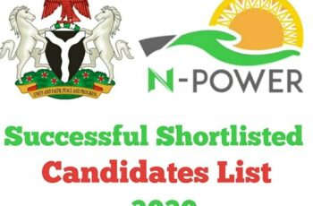 N-Power 2020 Successful Shortlisted Candidates List - Check Here www.npower.fmhds.gov.ng