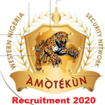 Ondo State Security Network Agency Amotekun Corps Recruitment 2020