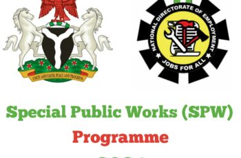 FG 774,000 SPW Job Recruitment 2021 - Application Form & How to Apply