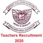 Bright Children Academy Teachers Recruitment 2020 – Apply Now