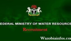 Federal Ministry of Water Resources Recruitment 2020 - Apply Now