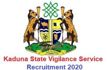 Kaduna State Vigilance Service Recruitment 2020