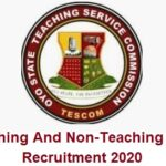 Oyo State Teaching Service Commission (TESCOM) Recruitment 2020 – Application Form