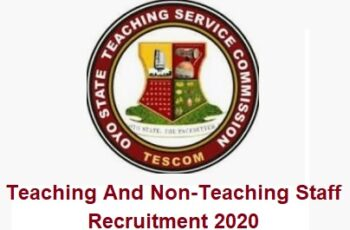 Oyo State Teaching Service Commission (TESCOM) Recruitment 2020 - Application Form
