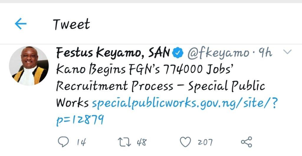 Kano Begins FGN's 774000 Jobs' Recruitment Process