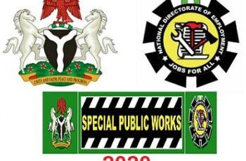 SPW Recruitment 2020 – Special Public Works Programme Form Portal