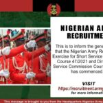 Nigerian Army Direct Short Service Commission (DSSC) Recruitment 2020/2021 – Apply Now