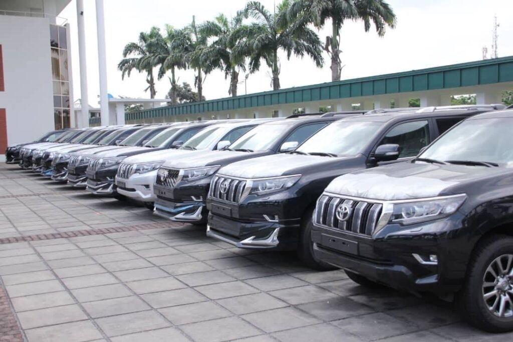 Wike Presents 15 Land Cruiser Prado VX and TXL to Rivers National Assembly Members