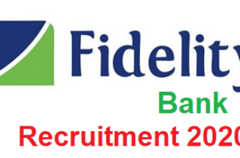 Fidelity Bank Plc Graduate Trainee Recruitment 2020 - Apply Now