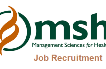 Management Sciences for Health (MSH) Job Recruitment 2020 - Apply Now
