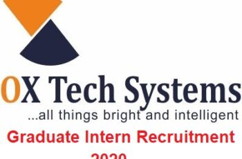 Ox Tech Systems Graduate Intern Recruitment 2020 - Apply Now