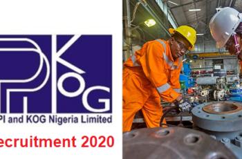 PPI and KOG Nigeria Limited Job Recruitment 2020 - Apply Now