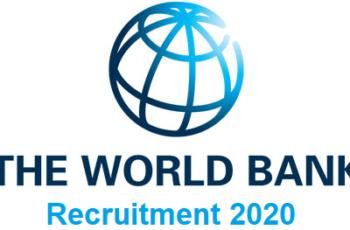 World Bank Group Job Recruitment 2020
