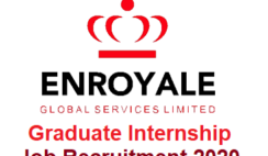 Enroyale Global Services Limited Graduate Internship Job Recruitment 2020 - Apply Now