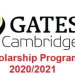 Gates Cambridge Fully Funded Scholarship Programme 2020/2021 – Apply Now