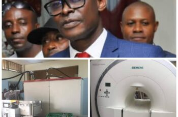 Eze Congratulates Prof. Ugboma, UPTH Management Team as 1.5 Tesla Magnetic Resonance Imaging ( MRI) Machine Arrives Hospital
