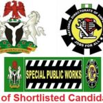 Special Public Works List of Shortlisted Candidates for NDE 774,000 Jobs – Check Here