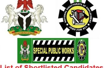 Special Public Works List of Shortlisted Candidates for NDE 774,000 Jobs - Check Here