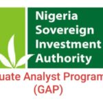 Nigeria Sovereign Investment Authority (NSIA) Graduate Analyst Programme (GAP) – Apply Here