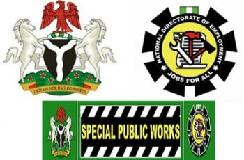 774,000 Jobs: FG Approves November 1st As Commencement For Special Public Works (SPW)
