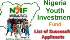 Nigeria Youth Investment Fund (NYIF) List of Successful Applicants