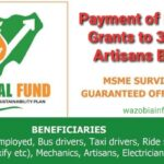 FG Begins Payment Of N30,000 Grants To Artisans & Others