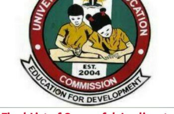 Universal Basic Education Commission, UBEC Final List of Successful Shortlisted Applicants 2020