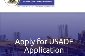 Lagos State Employment Trust Fund/USADF Programme 2020 - Apply Now
