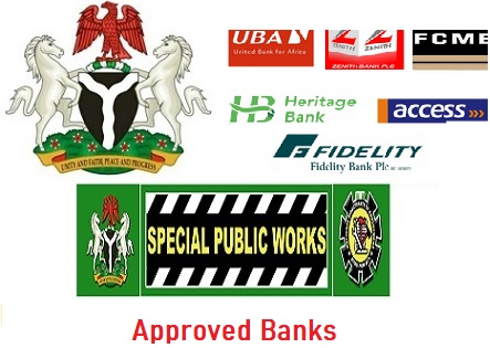 FG 774,000 Jobs: List of Designated Banks in All States/LGAs for SPW Successful Applicants