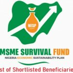 FG MSME Survival Fund List of Shortlisted Beneficiaries – Check Here www.survivalfund.ng