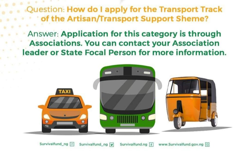 FG Begins Payment of Grants for Taxi, Bus, Okada, Keke, Uber, Bolt Drivers & Others