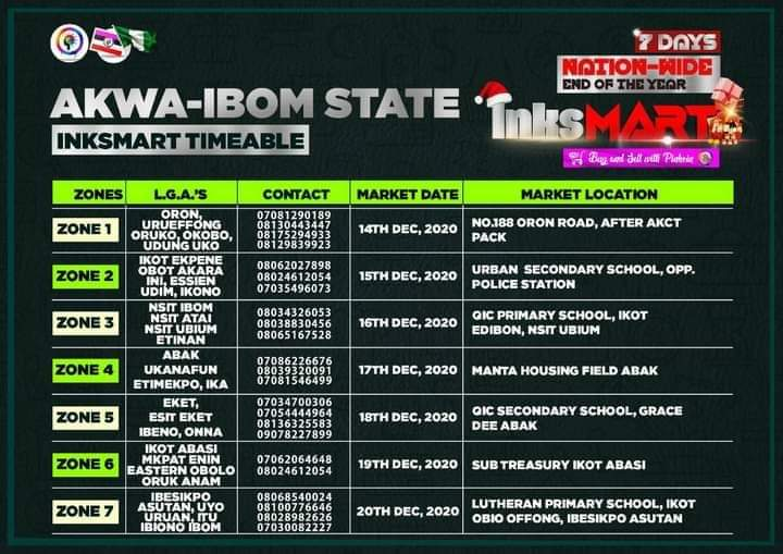 Akwa-Ibom State Inksnation Market Venues And Dates