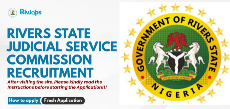 Rivers State Judicial Service Commission Recruitment 2021 - Application Form Portal