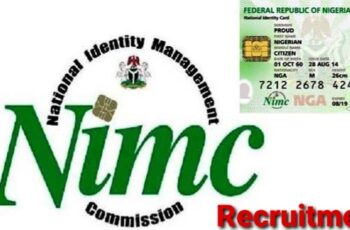 NIMC Recruitment 2021 Registration Form Portal - How to Apply Online