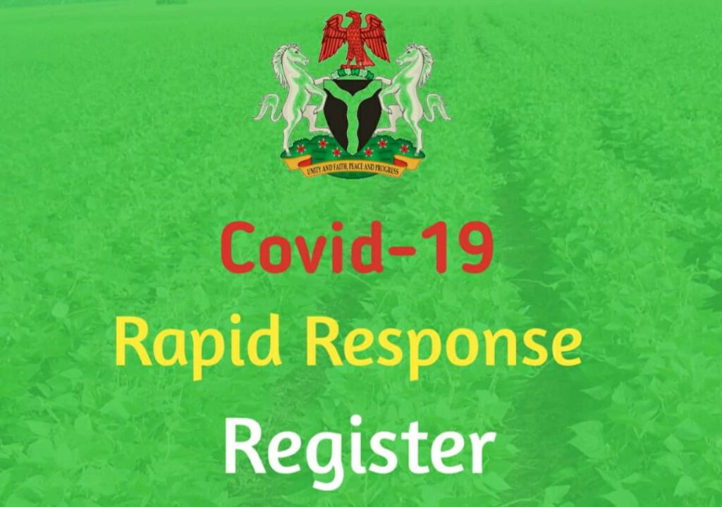 FG Covid-19 Rapid Response Register (RRR) - How to Register & Get Paid N5000 Monthly with RRR