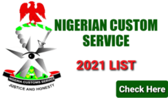 Nigeria Customs Service 2021 List of Successful Candidates is Out Online - Check Here