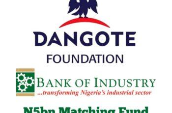 Dangote Foundation/BOI N5bn Matching Fund Application Portal
