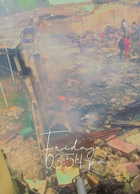Fire Guts Mile 3 Market in Port Harcourt