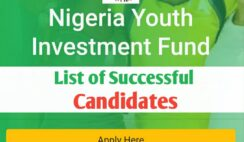 NYIF List of Shortlisted Candidates for NYIF Loan Disbursement