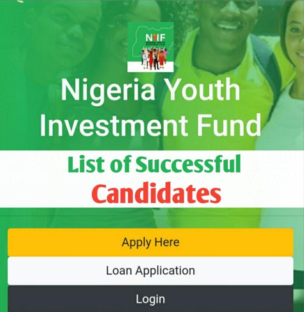 NYIF List of Shortlisted Candidates for NYIF Loan Disbursement