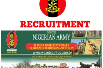Nigerian Army 2021 Trades/Non Tradesmen and Women 81 Regular Recruit Intake Application Form Portal www.recruitment.army.mil.ng