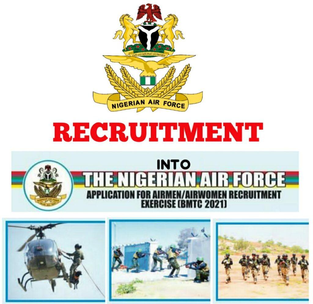 Nigerian Air Force 2021 Recruitment for Airmen/Airwomen