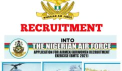 Nigerian Air Force 2021 Recruitment for Airmen/Airwomen
