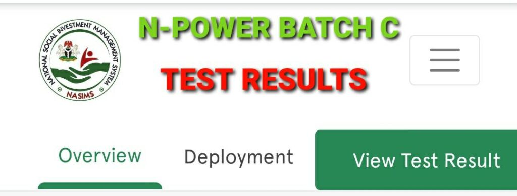 How To View Your NPOWER Batch C Test Result On NASIMS Portal