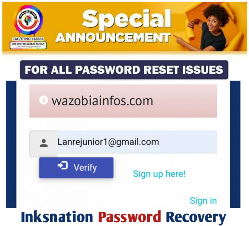 Inksnation Account Password Recovery - How to Recover Your Inksnation Pinkoin Password, Username & Pin Easily
