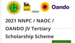 2021 NNPC / NAOC / OANDO JV Tertiary Scholarship Awards