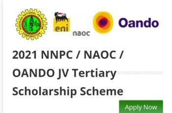 2021 NNPC / NAOC / OANDO JV Tertiary Scholarship Awards
